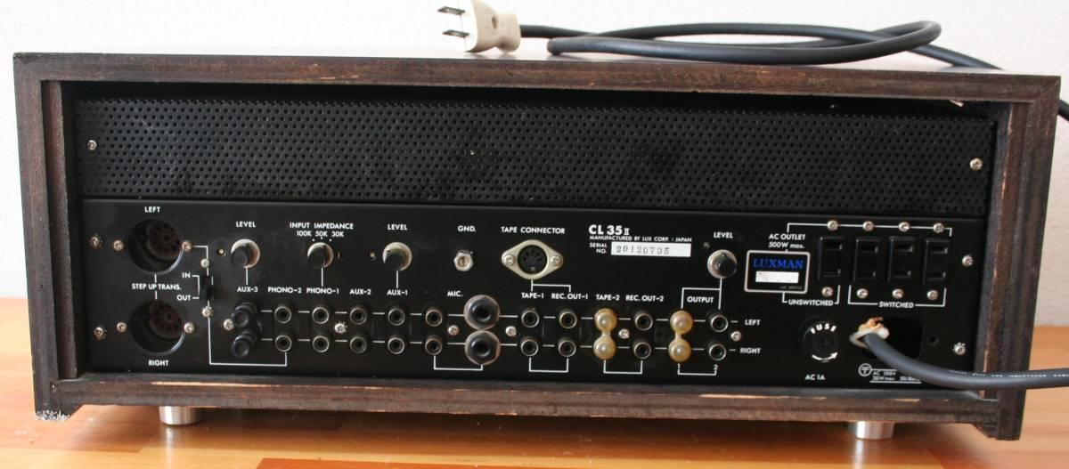 LUXMAN CL35Ⅱ 管球コントロールアンプ、難有り動作品、使用説明書付き_画像2