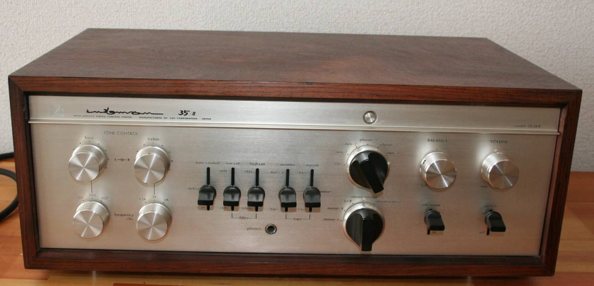 LUXMAN CL35Ⅱ 管球コントロールアンプ、難有り動作品、使用説明書付き
