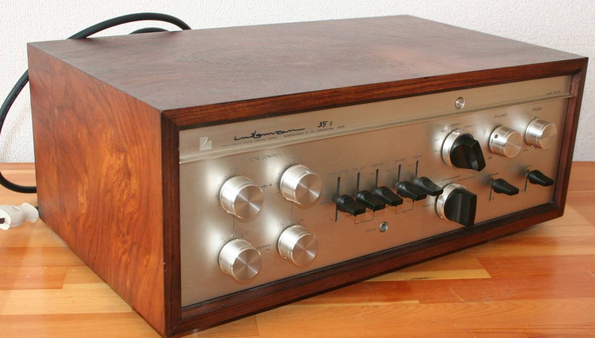 LUXMAN CL35Ⅱ 管球コントロールアンプ、難有り動作品、使用説明書付き_画像4