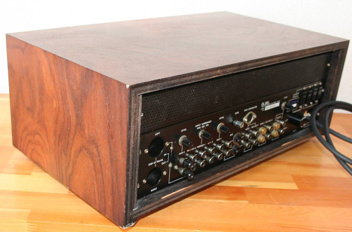 LUXMAN CL35Ⅱ 管球コントロールアンプ、難有り動作品、使用説明書付き_画像5