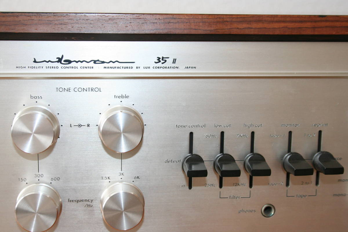 LUXMAN CL35Ⅱ 管球コントロールアンプ、難有り動作品、使用説明書付き_画像6
