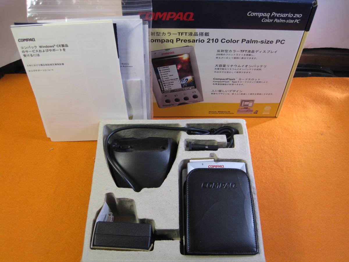 【美品】COMPAQ Presario 210 Color Palm-size PC SCPSP213 箱説有り レトロPDA