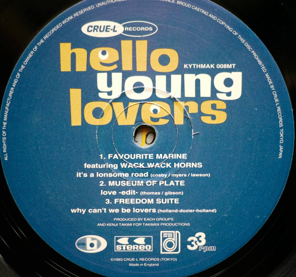 LP★V.A./Hello Young Lovers / Kahimi Karie / Love Tambourines バスキア Basquiat カヒミ・カリィ/ラブ・タンバリンズ 1993年_画像4