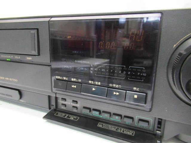 KN133/ビデオデッキ/S-VHS/ビクター/Victor/HR-S7700/ジャンク扱い/中古品/_画像2