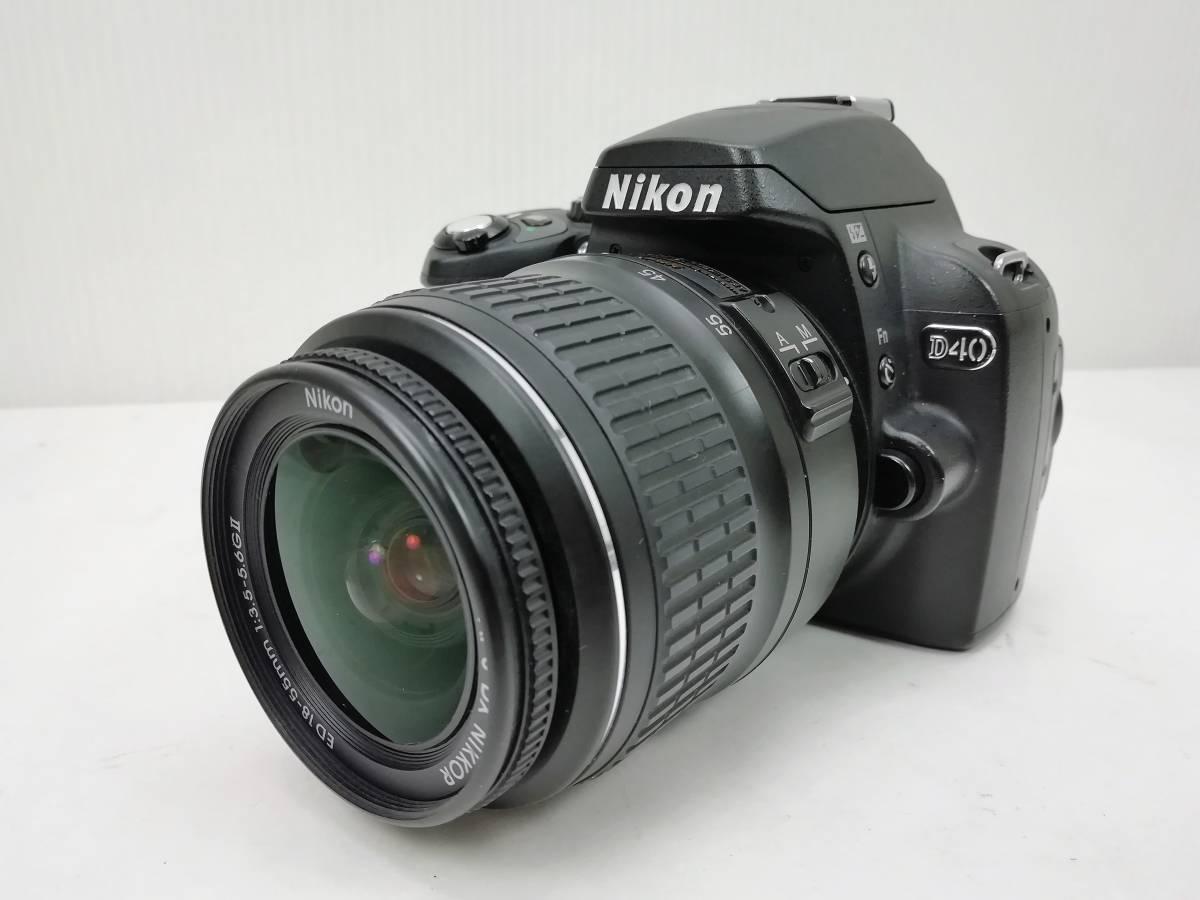 ニコン デジタル一眼レフカメラ D40 レンズキット ブラック Nikon_画像2