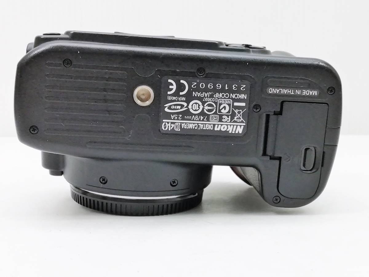 ニコン デジタル一眼レフカメラ D40 レンズキット ブラック Nikon_画像6