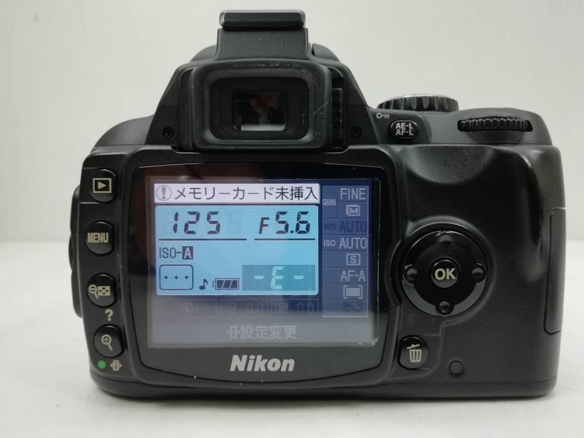 ニコン デジタル一眼レフカメラ D40 レンズキット ブラック Nikon_画像7