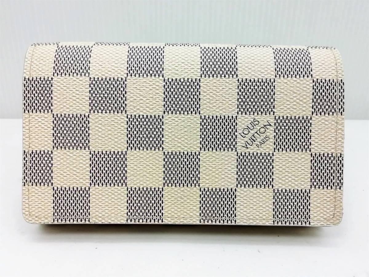 美品!ルイヴィトン Louis Vuitton ダミエ アズール ポルトモネ ビエ トレゾール 二つ折り財布 レディース N61744