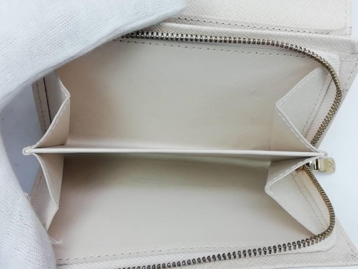 美品!ルイヴィトン Louis Vuitton ダミエ アズール ポルトモネ ビエ トレゾール 二つ折り財布 レディース N61744_画像5