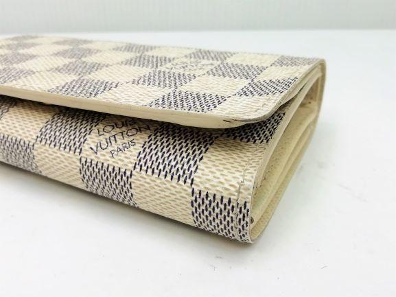 美品!ルイヴィトン Louis Vuitton ダミエ アズール ポルトモネ ビエ トレゾール 二つ折り財布 レディース N61744_画像9