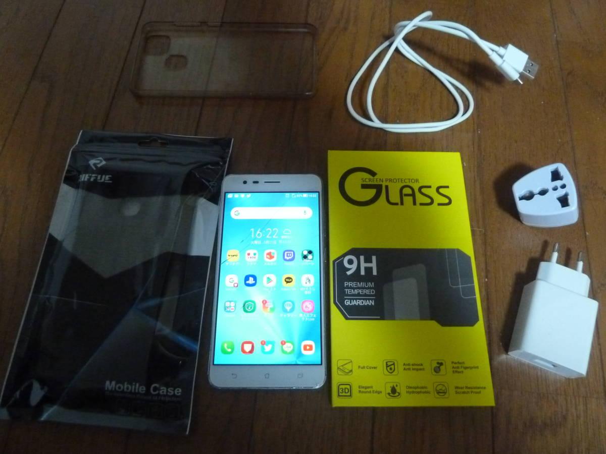ASUS ZenFone Zoom S SIMフリースマートフォン シルバー/5.5インチ 日本正規代理店品 (4GB/64GB/5000mAh) ZE553KL-SL64S4/A エイスース