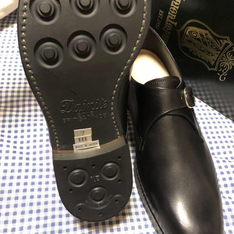 新品 未使用 ユニオンインペリアル U1706 ビジネスシューズ 黒 日本製 シングルモンク 7_画像5