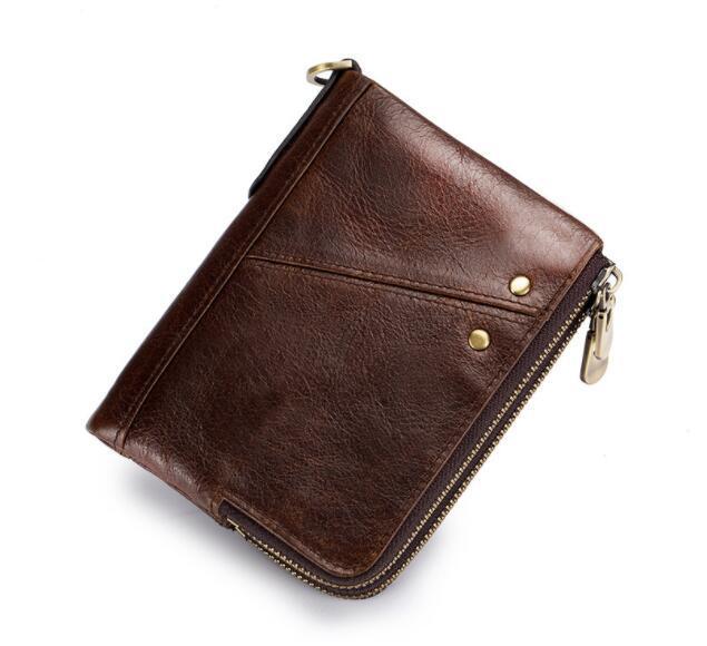二つ折り 財布 本革 牛革 柔らかい 財布 メンズ 本革 小銭入れ 免許証入れ カード13枚収納 男性 ファッション小物 ブラウン_画像10