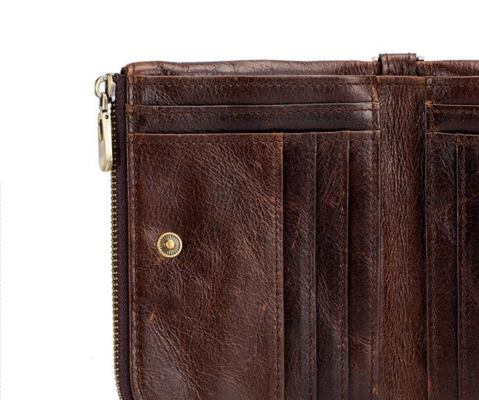 二つ折り 財布 本革 牛革 柔らかい 財布 メンズ 本革 小銭入れ 免許証入れ カード13枚収納 男性 ファッション小物 ブラウン_画像8