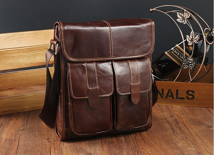 メンズ 本革 レザー ショルダーバッグ 斜め掛けバッグ iPad対応 鞄 機能的収納豊富 メッセンジャーバッグ 多機能 斜めがけ ブラウン