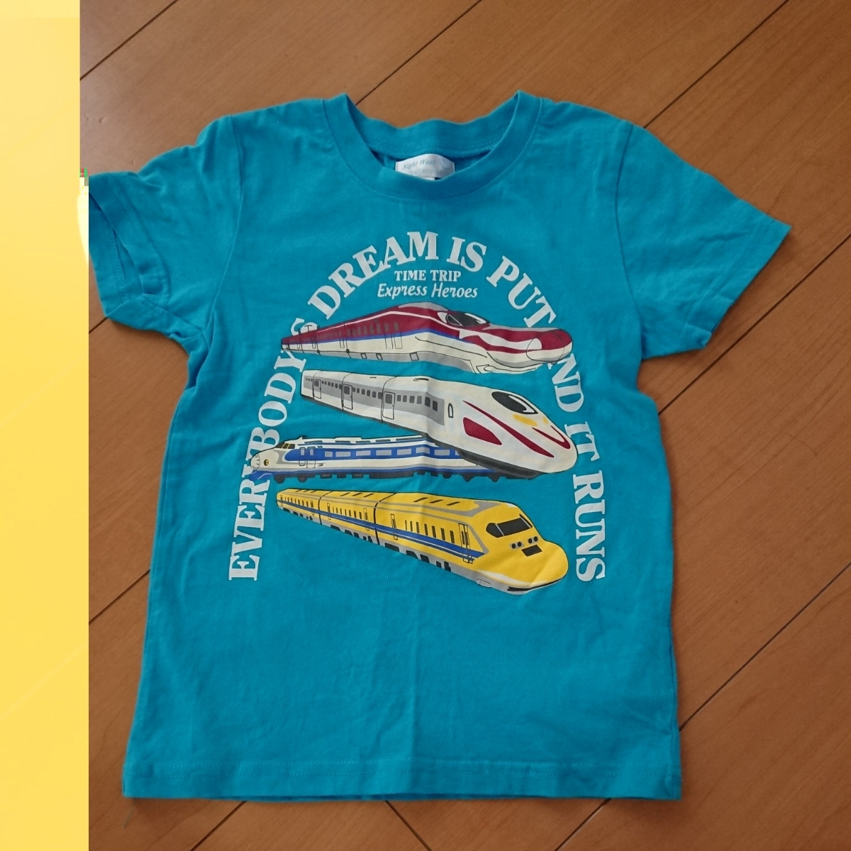 30561ae0eb9fd 代購代標第一品牌- 樂淘letao - マザウェイズmotherways子供キッズ半袖Tシャツ130cm 7-9才新幹線青緑ブルーグリーン