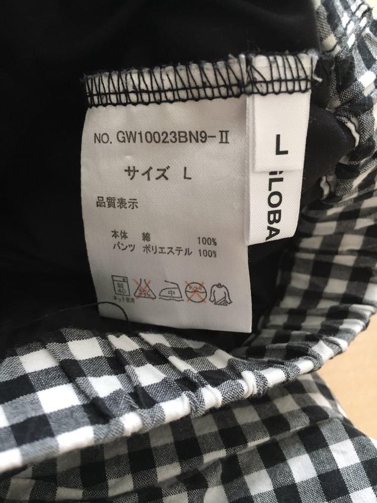GLOBAL WORK スカート L 110 120 チェック柄_画像3