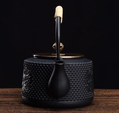 煎茶道具 骨董金属工芸品 鉄瓶茶釜_画像3
