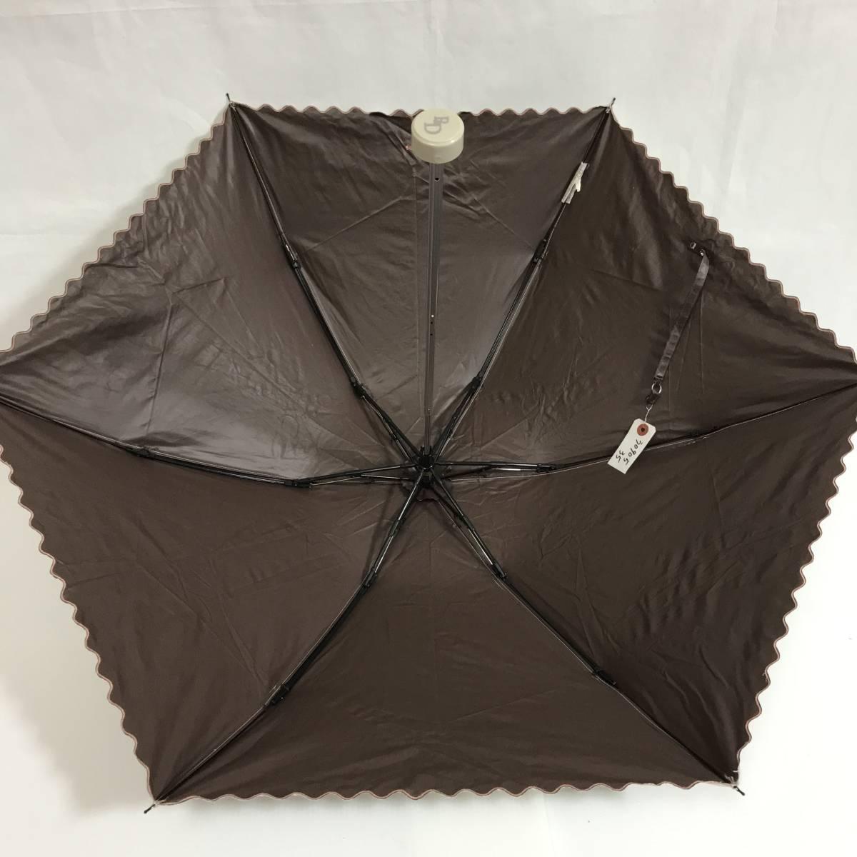 う090535 中古 Pinky&Dianne ピンキー&ダイアン AURORA オーロラ 晴雨兼用 雨傘 日傘 折りたたみ傘 女性用_画像2