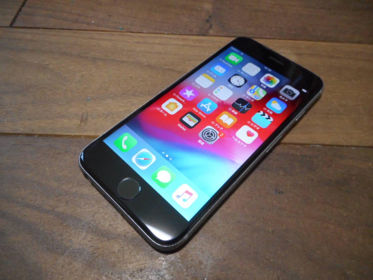 ②【国内版SIMフリー送料無料】完動品iPhone6s本体64GBグレイau白ロム判定〇【ジャンク品扱い1円スタート】