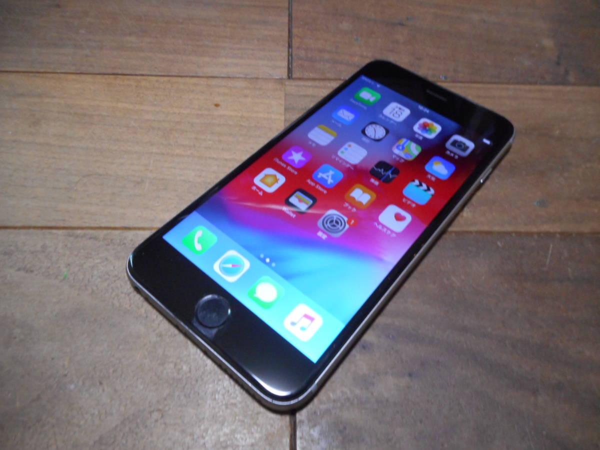①【送料無料】完動品液晶無傷iPhone6Plus本体64GBグレイDOCOMO白ロム判定〇【動作確認済み1円スタート】
