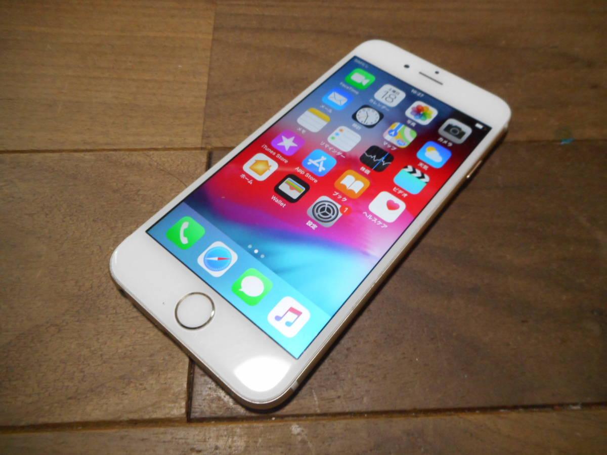 ④【送料無料】完動品iPhone6本体16GBゴールドSoftbank白ロム判定〇【動作確認済み1円スタート】