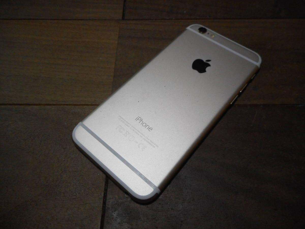 ④【送料無料】完動品iPhone6本体16GBゴールドSoftbank白ロム判定〇【動作確認済み1円スタート】_画像4