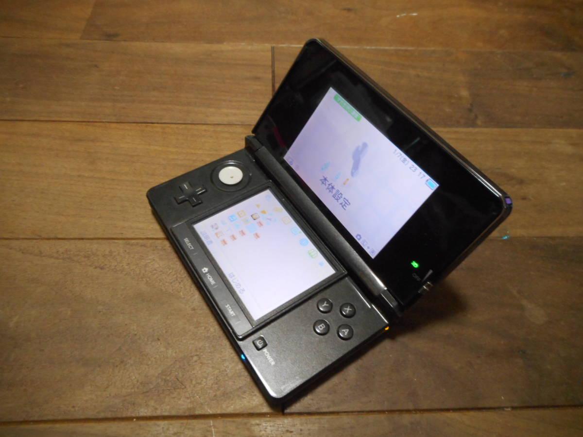 ②【送料無料】完動品3DS本体コスモブラックVer11.6.0-39J【動作確認済み1円スタート】