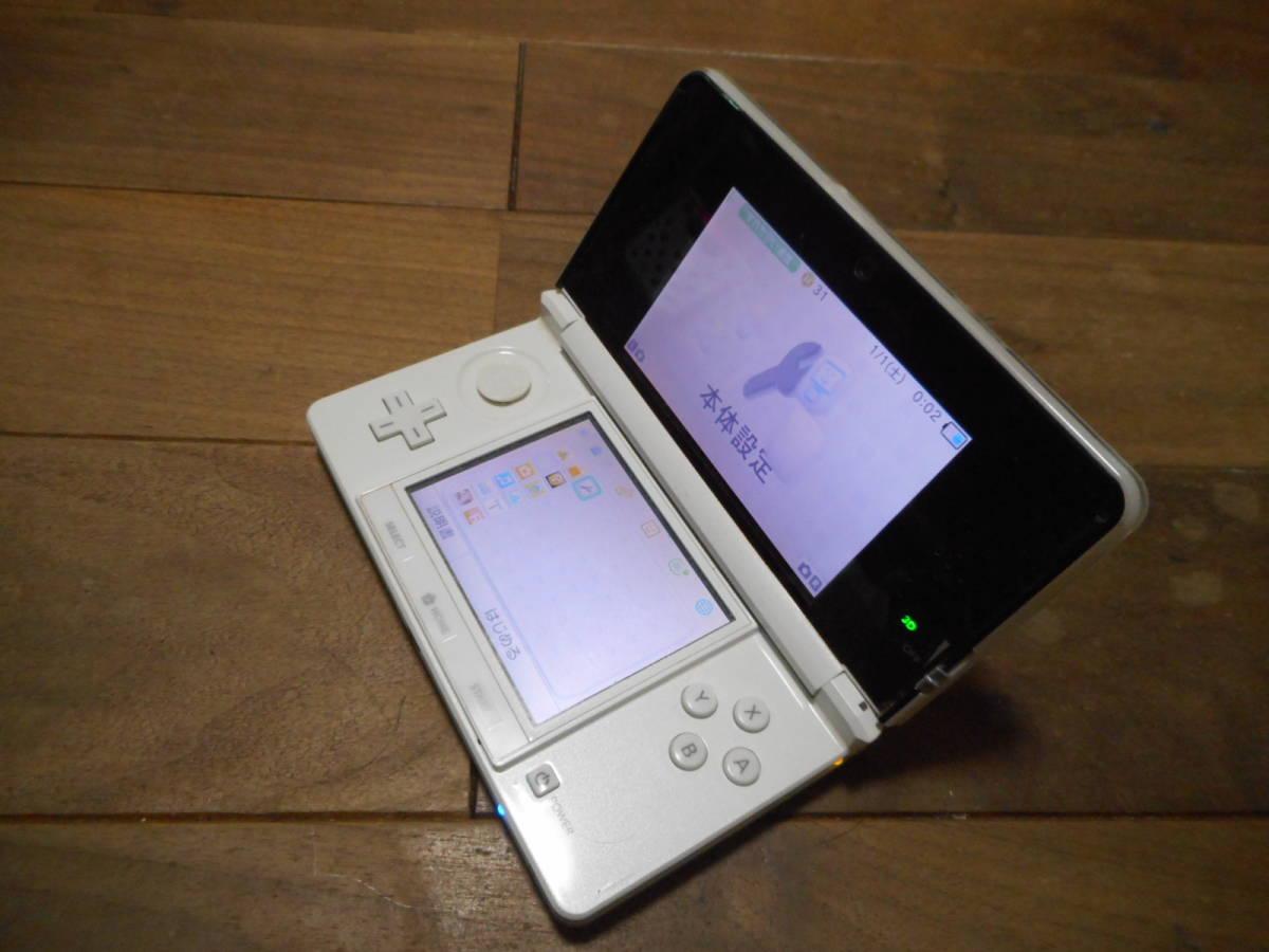 ⑥【送料無料】完動品3DS本体アイスホワイトVer5.1.0-4J【動作確認済み1円スタート】