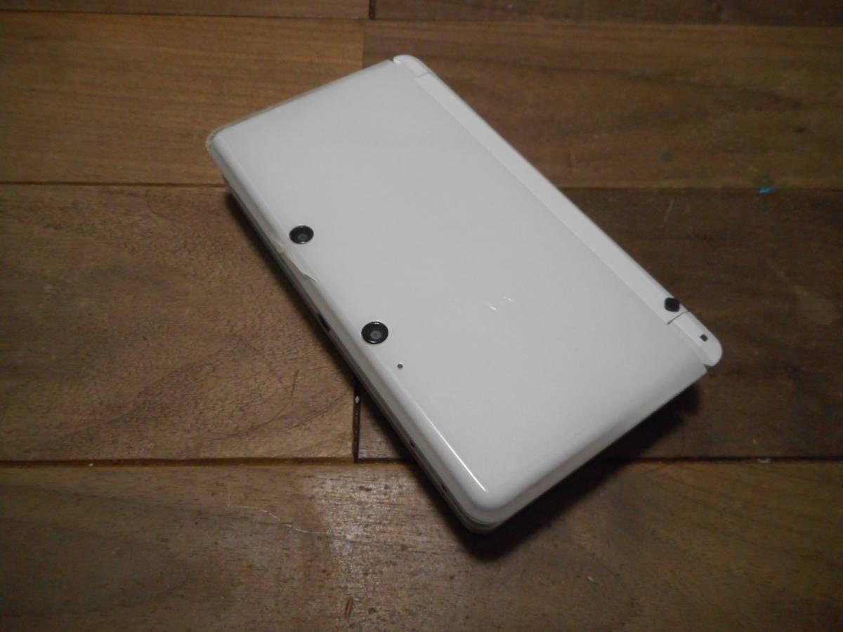 ⑥【送料無料】完動品3DS本体アイスホワイトVer5.1.0-4J【動作確認済み1円スタート】_画像2