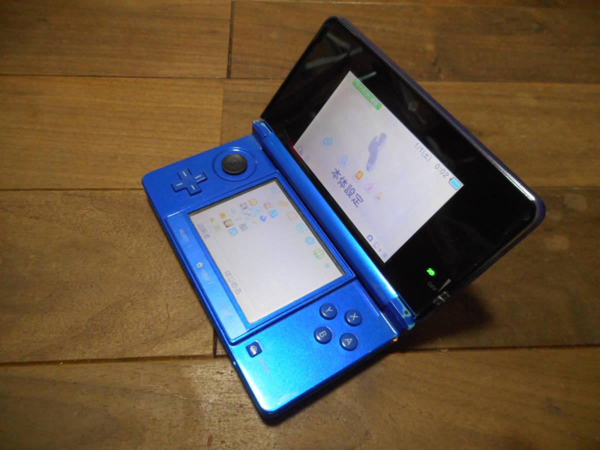 ⑦【送料無料】完動品3DS本体コバルトブルーVer11.5.0-38J【動作確認済み1円スタート】