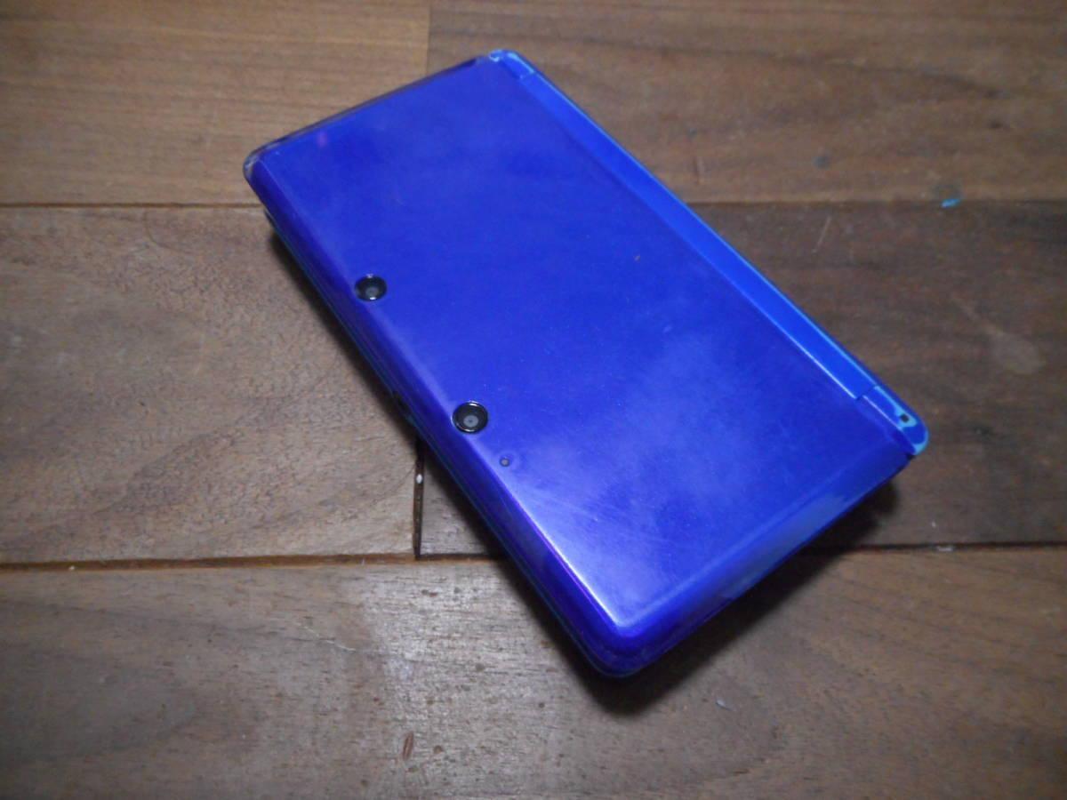 ⑦【送料無料】完動品3DS本体コバルトブルーVer11.5.0-38J【動作確認済み1円スタート】_画像2