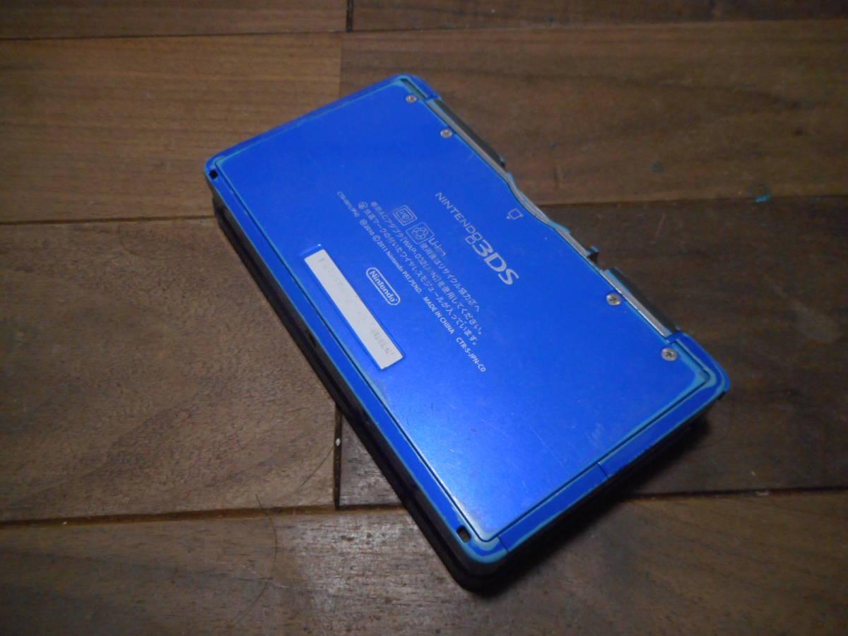 ⑦【送料無料】完動品3DS本体コバルトブルーVer11.5.0-38J【動作確認済み1円スタート】_画像3