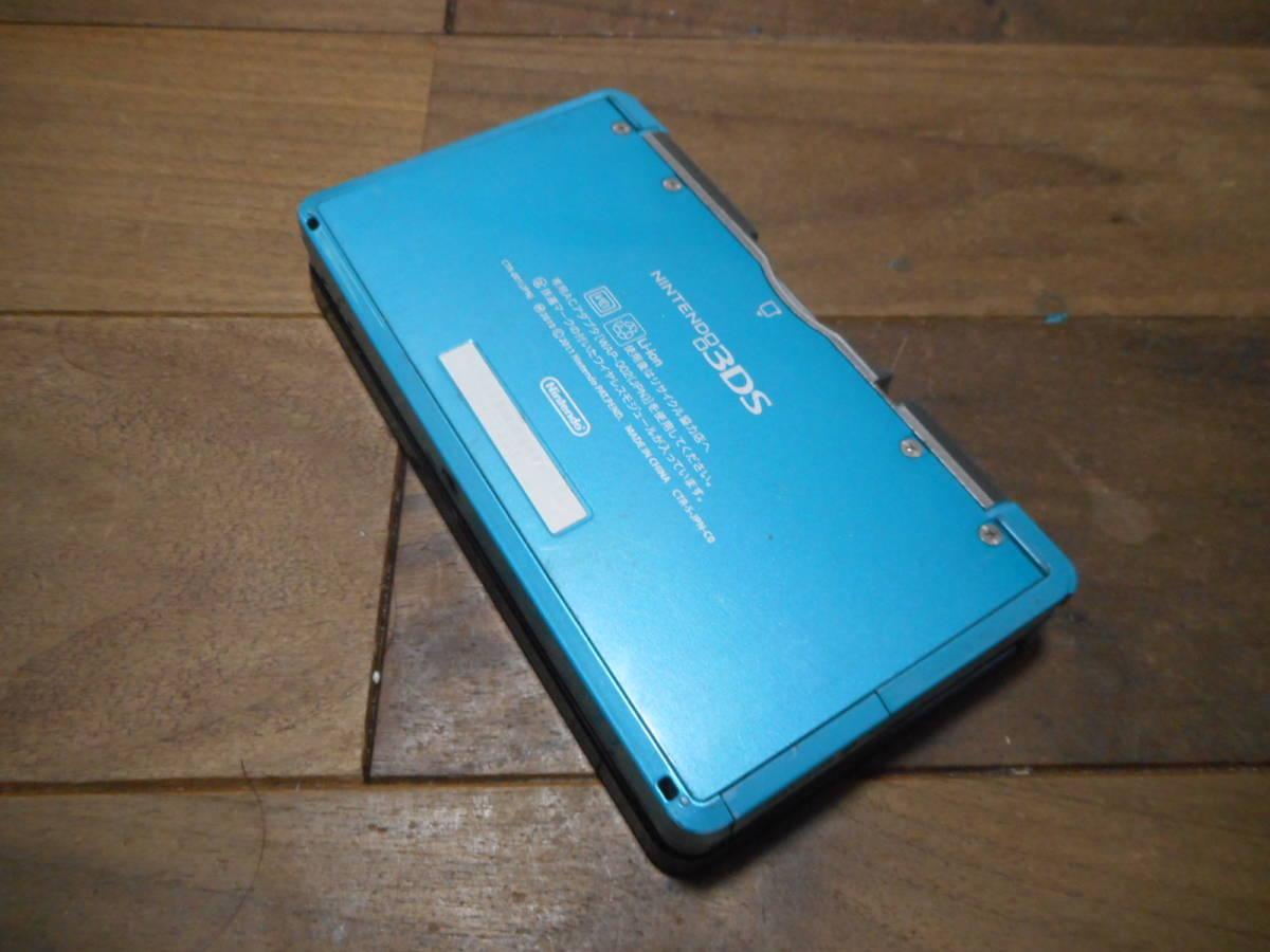 ⑩【送料無料】完動品3DS本体アクアブルーVer11.6.0-39J【動作確認済み1円スタート】_画像3