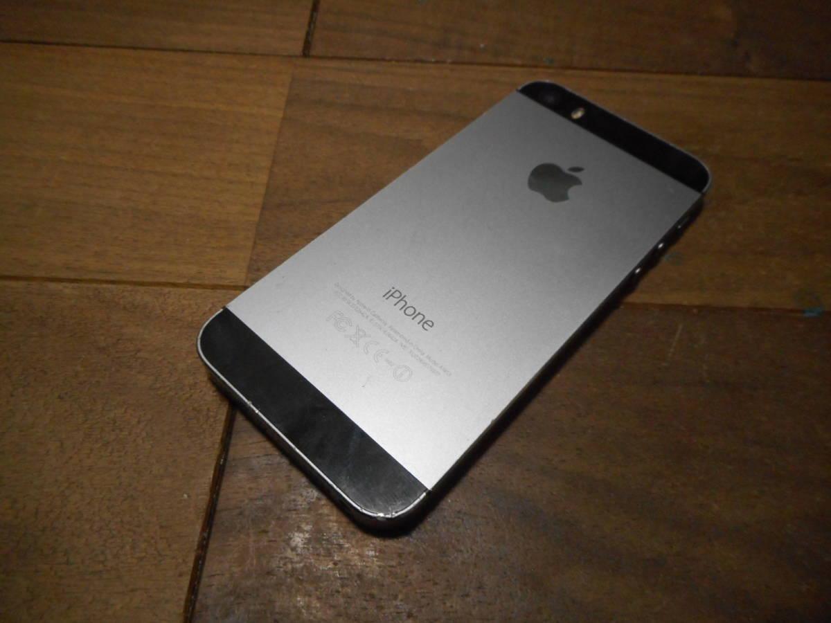 ①【送料無料】完動品iPhone5s本体64GBグレイSoftbank白ロム判定〇【動作確認済み1円スタート】_画像3