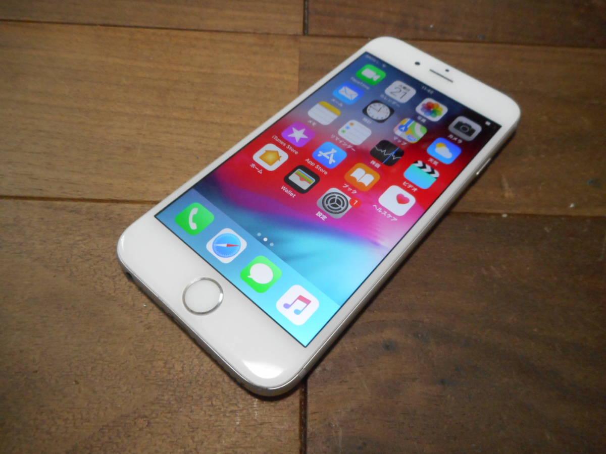 ②【送料無料】完動品液晶綺麗iPhone6本体16GBシルバーDOCOMO白ロム判定〇【動作確認済み1円スタート】