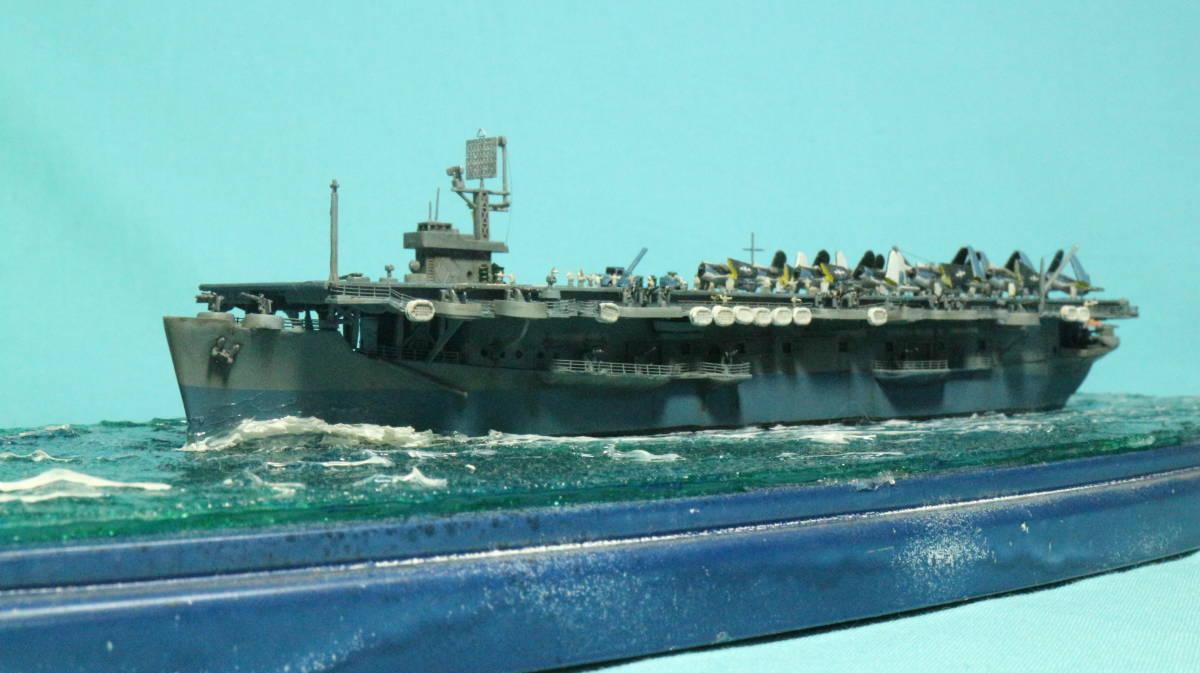 アメリカ ボーグ級護衛空母バーンズ(タミヤ 1/700)完成品_画像2
