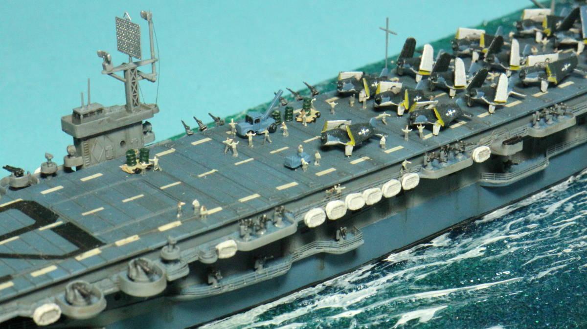 アメリカ ボーグ級護衛空母バーンズ(タミヤ 1/700)完成品_画像4