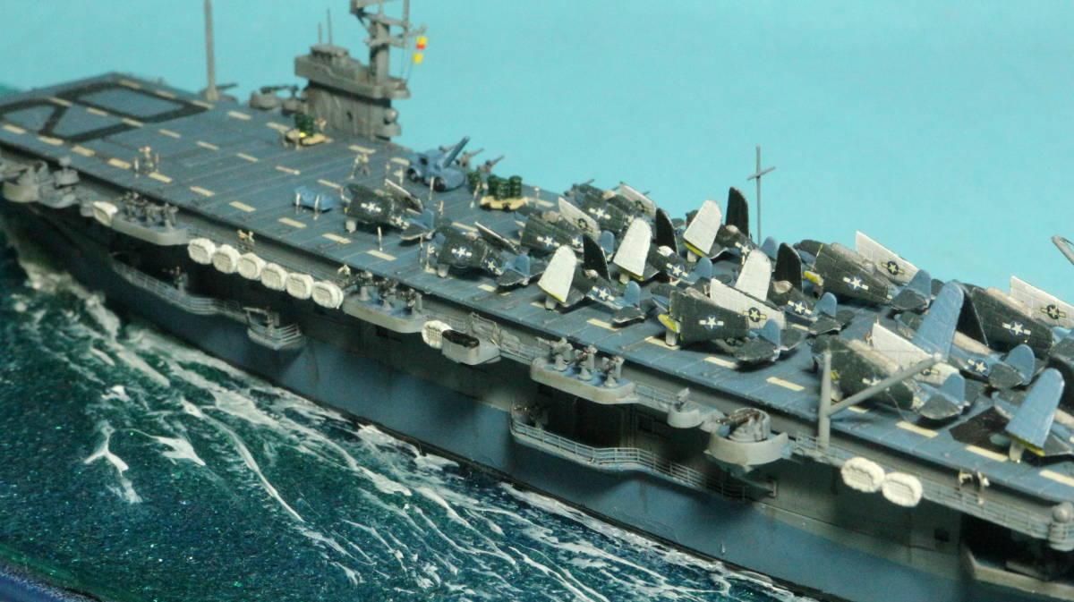 アメリカ ボーグ級護衛空母バーンズ(タミヤ 1/700)完成品_画像8