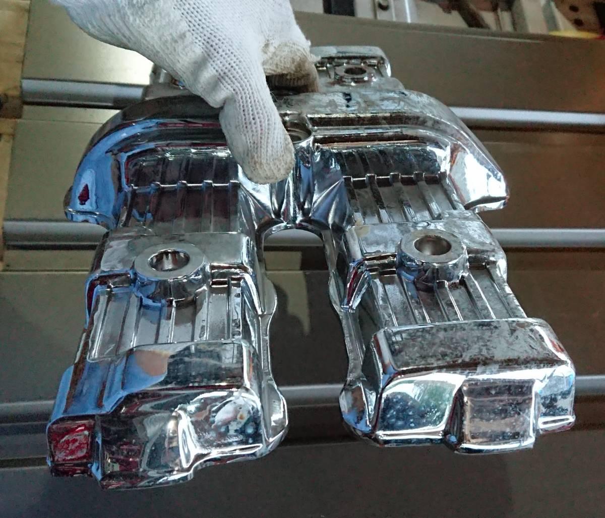 CBX400F CBX550F メッキ 後未使用 ヘッドカバー 放置品 当時物 キジマ ビート サンセイ ダイシン BEET エンジン_画像3