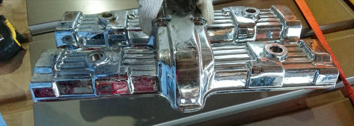 CBX400F CBX550F メッキ 後未使用 ヘッドカバー 放置品 当時物 キジマ ビート サンセイ ダイシン BEET エンジン_画像6