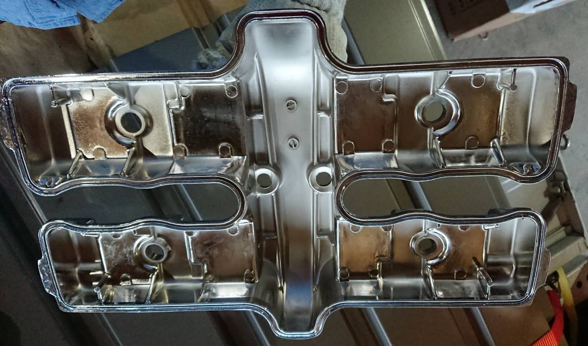CBX400F CBX550F メッキ 後未使用 ヘッドカバー 放置品 当時物 キジマ ビート サンセイ ダイシン BEET エンジン_画像2