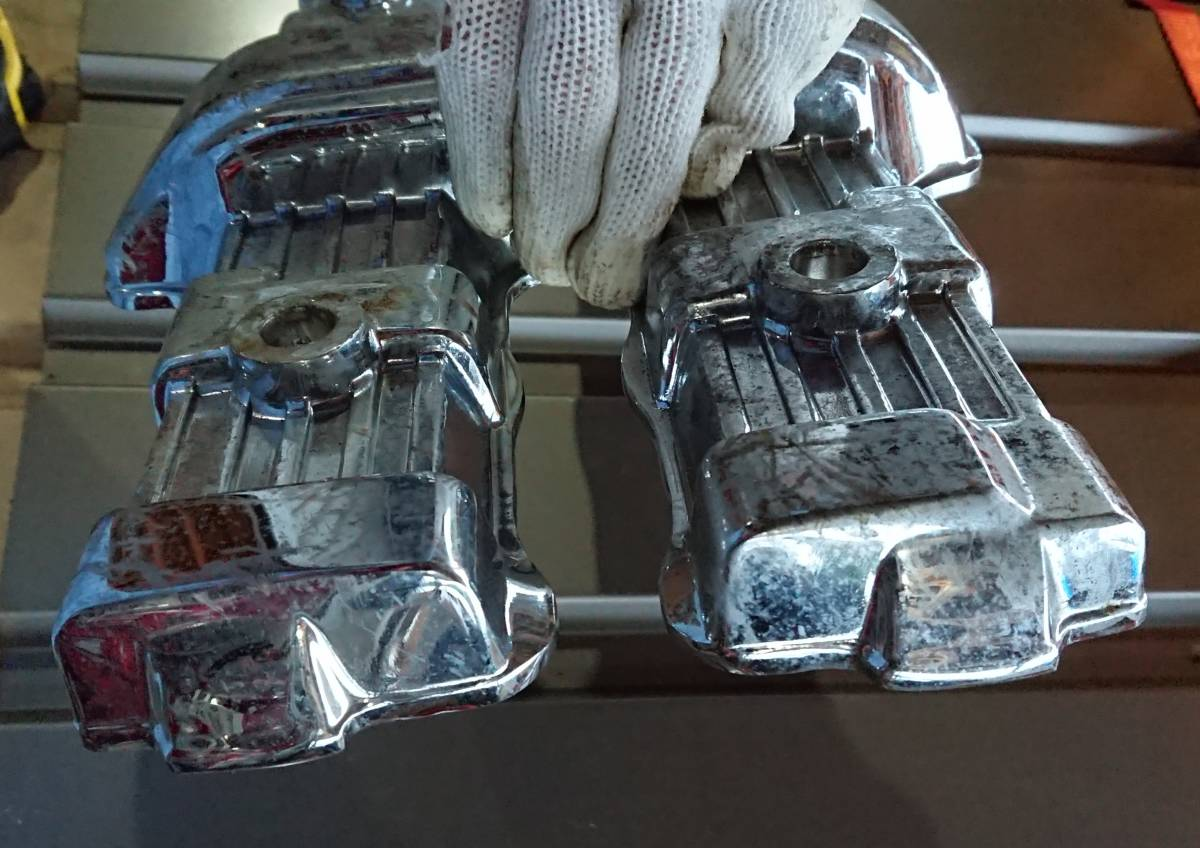 CBX400F CBX550F メッキ 後未使用 ヘッドカバー 放置品 当時物 キジマ ビート サンセイ ダイシン BEET エンジン_画像4