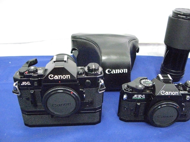 4-222 Canon キャノン AE-1 PROGRAM A1 EF レンズ 一眼レフ カメラ A-1 FD 70-150mm 1:4.5 FD 70-210mm 1:4 power winder_画像2