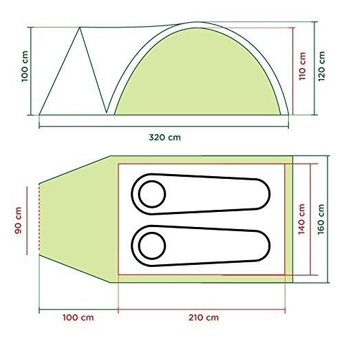海外モデル Coleman コールマン ダーウィン 2 プラス 2人用テント Darwin 2 Plus +_画像8
