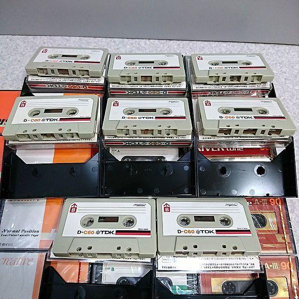 未開封27点 中古8点 カセットテープ 東芝BOMBEAT 90MS CREATIVE LN90 TDK D-C60 BON C-90 RIVERtone A-III 90 SESSION'60_画像6