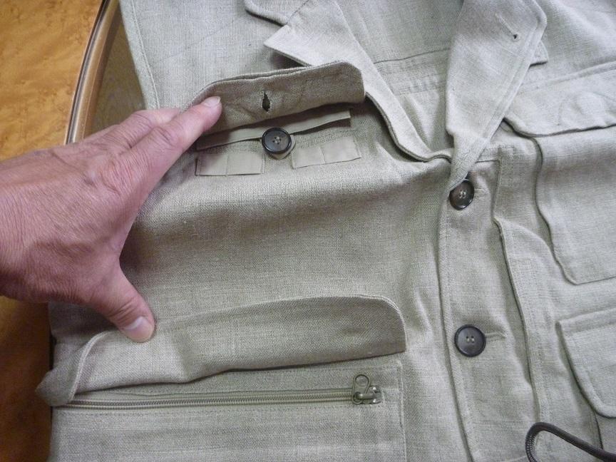 ★芦沢一洋氏のフライフィッシング時の着用ベスト Limerick _画像6