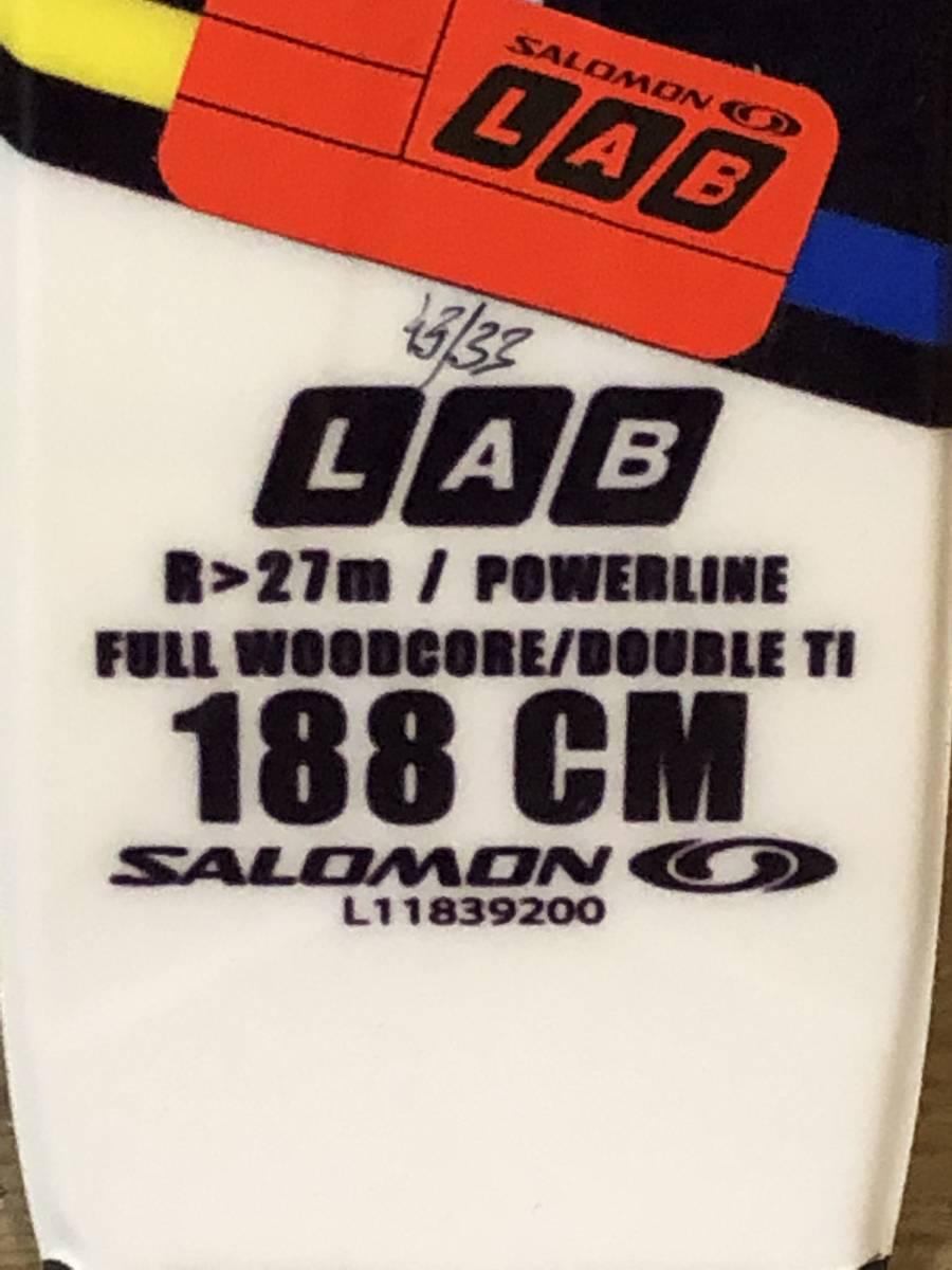 新品・未使用 サロモンスキーGS 188cm R27m ビンディングX12_画像6