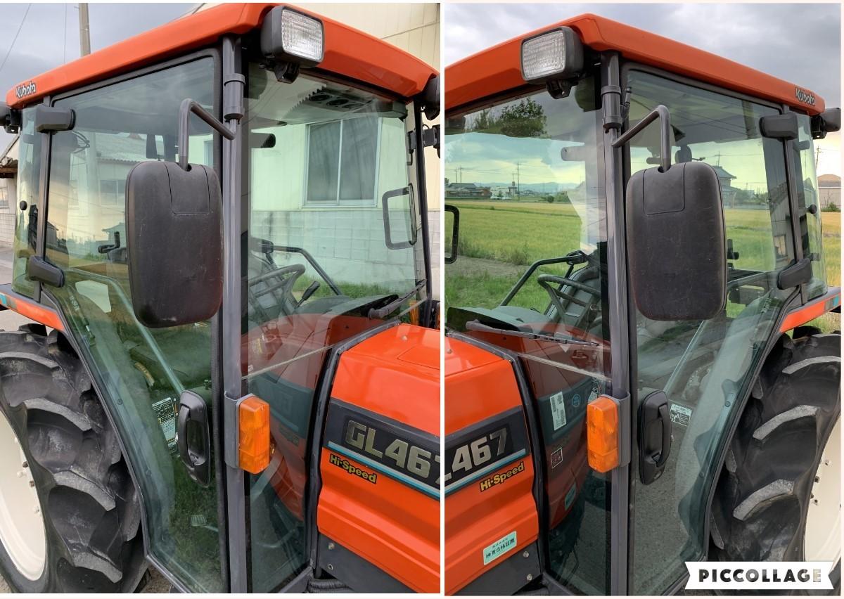 クボタ トラクター GL467  45馬力 812時間 キャビン エアコン パワステ ハイスピード 4WD 程度良_画像5