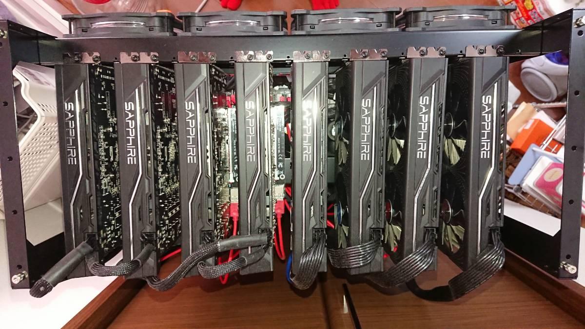 構築稼働確認済み マイニングリグ RX470 8GB 24枚 win10_画像2